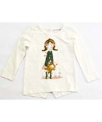 Minoti Dívčí tričko Pretty 1 s holčičkou - světle béžové