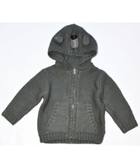 Minoti Dětský svetr s kapucou Bear 13 - šedý