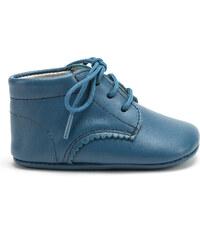 Bottines lacets souple bleu perle