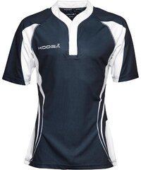 KooGa Mens Tight Fit Curve Match Shirt Navy/White