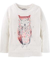 Oshkosh Dívčí tričko se sovou - bílé