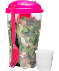 Box na svačinu Salad Pot SAGAFORM To Go 800 ml | růžový