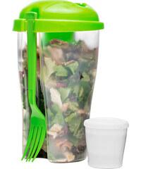 Box na svačinu Salad Pot SAGAFORM To Go 800 ml | zelený
