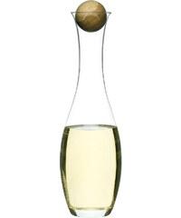 Karafa na vino s dřevěnou kuličkou SAGAFORM Oval Oak 1L