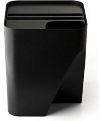 Stohovatelný odpadkový koš QUALY Block 30 | černý