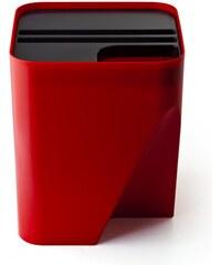 Stohovatelný odpadkový koš QUALY Block 30   červený