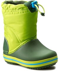Sněhule CROCS - Crocband Lodgepoint Boot K 203509 Lime/Forest