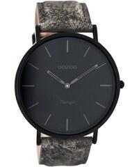 Oozoo Vintage Armbanduhr Sand/Schwarz 44 mm C8128