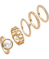 bpc bonprix collection 5-tlg. Ring-Set in gold für Damen von bonprix