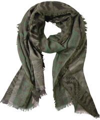 Cecil Langer Schal mit Miniperlen - loden frost green, Herren