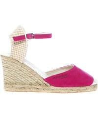 Les Tropéziennes par M Belarbi Chaussures compensées en cuir suédé - fushia