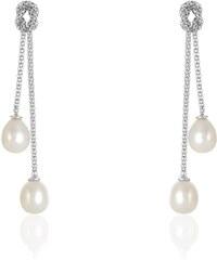 Histoire d'Or Boucles d'oreilles avec perles - blanc