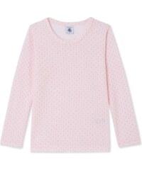 Petit Bateau T-shirt à manches longues en laine et coton - rose