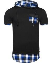 Athletic Trendy pánské černé tričko s modrým detailem ATHLETIC 479