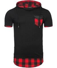 Athletic Tričko pánské černé s červeným detailem ATHLETIC 479