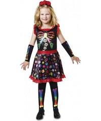Dětský kostým Veselá kostlivka Pro věk (roků) 10-12