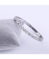 Náramek Romantic Steel chirurgická ocel s krystalky