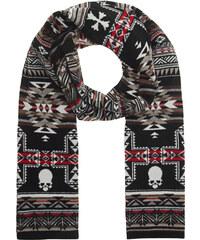 GEMMA.H Skull Jarquard Knit Black Red