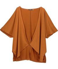 Lesara Cardigan mit halblangen Ärmeln - Camel - S