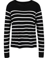 Bílo-černý lehký pruhovaný svetr ONLY Mila
