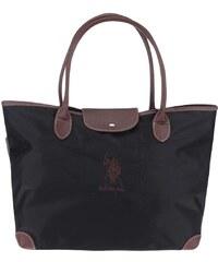 Černý shopper s tmavě hnědými detaily U.S. Polo Assn