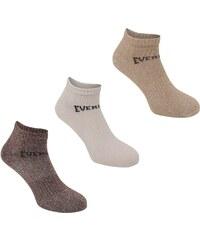 Ponožky Everlast 3 Pack dět. hnědá