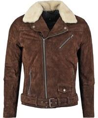 Jofama LASSE Veste en cuir dark brown