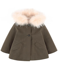 Yves Salomon Cape with removable fur