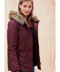 S.OLIVER RED LABEL Damen RED LABEL Warme Jacke mit Fake Fur-Kapuze rot L (46),M (40),M (42),S (36),S (38),XS (34)