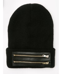 Cayler & Sons Zipped Old School Beanie Black Gold
