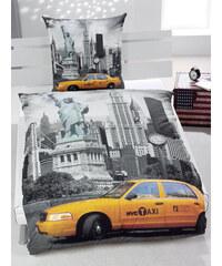 Herding Ložní povlečení New York Yellow Taxi 135x200cm, 80x80cm