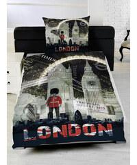 Herding Ložní povlečení London Night 135x200cm, 80x80cm