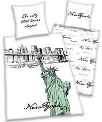 Herding Ložní povlečení New York Art 135x200cm, 80x80cm