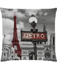 Herding Dekorační polštář s výplní Paris Metro 40x40cm