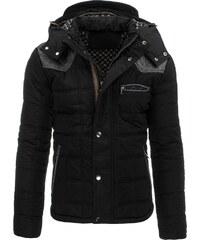 Černá moderní pánská bunda s odnímatelnou kapucí