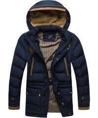 J. Style Moderní tmavě modrá prošívaná zimní bunda J.STYLE 3081