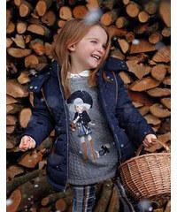 Mayoral MAYORAL zimní dívčí kabát se vzorem