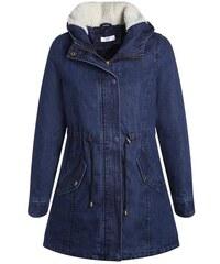 Parka en jean avec capuche Bleu Polyester - Femme Taille 1 - Cache Cache