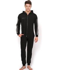 Lesara Sweat-Jumpsuit mit Reißverschlusstaschen - L