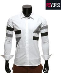 Re-Verse Hemd mit geometrischem Muster - S