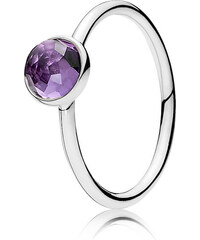 Pandora Kombinierbarer Ring Februar Tröpfchen Silber Lila 191012SAM-48