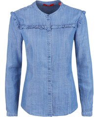 S.Oliver RED LABEL Rüschenbluse im Denim Look