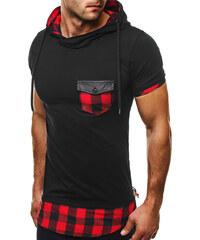 Athletic Černé tričko s červeným vzorem