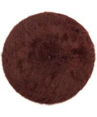 Art of Polo Hnědý angorský baret s dlouhým vlasem
