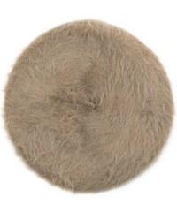 Art of Polo Šedý angorský baret s dlouhým vlasem