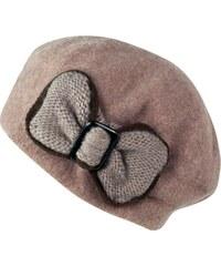 Art of Polo Vlněný baret s krásnou mašlí béžový