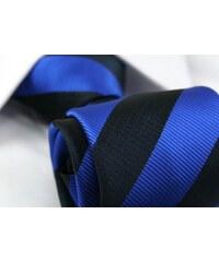 Modro-černá proužkovaná kravata
