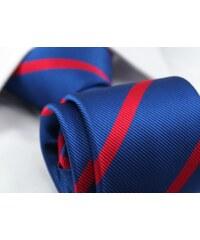 Modro-červená proužkovaná kravata