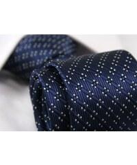 Tmavě modrá vzorovaná pánská kravata