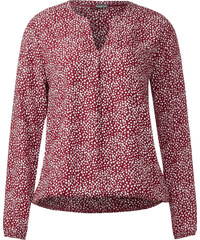 Street One Bluse mit Gummizug Idwina - vintage red, Damen